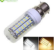 B22 12W 56x5630SMD LED Warm White/Cool White  1900LM 3500K 6000K Decorative LED Corn Bulbs  AC110-240V