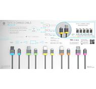 potere tendenza usb 2.0 - micro-USB a USB (1m + 0,2 m) - Cavo 2.4a piano di sincronizzazione di rame e di carica ad alta velocità