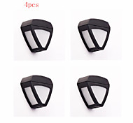 4pcs HRY® 2LEDS White Color Light SolarWallLight Solar Lights