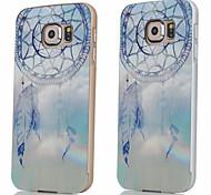 armação de metal coletor ideal sinos de vento caixa dura padrão acrílico backplane para Samsung Galaxy S6 (cores sortidas)