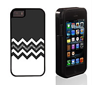 The Black and White Design 2 in 1 Hybrid Armor Full-Body Dual Layer Shock-Protector Slim Case for iPhone 5/5S