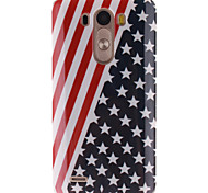 The American Flag Design TPU Soft Case for LG G3