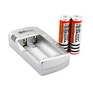 HaoBa Battery Charger for  18650 Rechargeable Li- ion Battery(Included 2x3000mAh 3.7V Batteries)