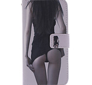 For Samsung Galaxy Case Card Holder / with Stand / Flip / Pattern Case Full Body Case Sexy Lady PU Leather Samsung Grand Prime