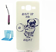 Fitness  Pattern TPU Case Soft Cell Phone Cases  for Samsung Galaxy Alpha/G5308