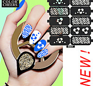 10PCS DIY Hollow Shape Manicure Nail Stickers Nail Art Manicure Template Image Stamp
