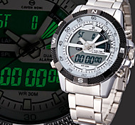 Multiple Digtal Time Zone Mens Sport Wrist Quartz Watch Date Day Alarm Waterproof LCD Chronograph Military Army Style