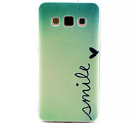 Smile Pattern TPU Soft Cover  for Samsung Galaxy A3
