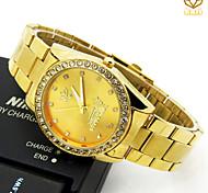Men's Round Dial Casual Watch Alloy Strap Japanese Quartz Watch Wrist Watch