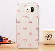 Pink bowknot Pattern Dermatoglyph Plastic Hard Back Cover for Samsung Galaxy S6