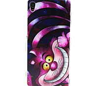 COCO FUN® Purple Cartoon Cat Pattern Soft TPU IMD Back Case Cover for Sony Xperia Z3