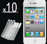 10pcs filme tela frontal hd claro para iPhone 4 / 4S
