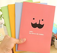 Cute Beard Pattern Notebook (Random Color)