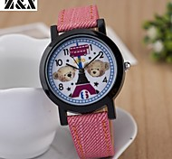 Childen's Fashion Diamond  Lovely Bear Quartz Analog Silicone Wrist Watch(Assorted Colors)