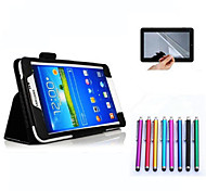 folio opvouwbare pu lederen case hoes tablet voor Samsung Galaxy Tab 4 7.0 t230 + pen + screen protector
