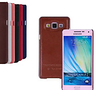 For Samsung Galaxy Case Embossed Case Back Cover Case Solid Color PU Leather Samsung A7
