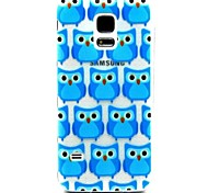 Relief Painting Blue Owl Pattern 0.2 Slim TPU Protective Shell for Samsung Galaxy S5 Mimi