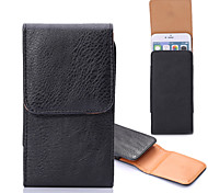 General Embossed Clip Buckle Vertical Sleeve Hanging Pockets for iPhone 6