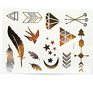 Body Art Painting Tattoo Stickers Glitter Metal Temporary Tattoo Disposable Indians Tattoos Tatoo(1pcs)