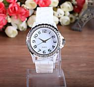 orologio custodia in plastica analogico quadrante rotondo fascia del silicone cinese donne del quarzo del regalo della vigilanza di modo