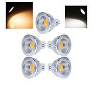 12W Lâmpadas de Foco de LED MR16 1 COB 50-150 lm Branco Quente / Branco Frio AC 220-240 V 5 pçs
