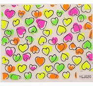 Most Popular Beauty Gift To GF Wife 3D Heart Pattern Nail Sticker