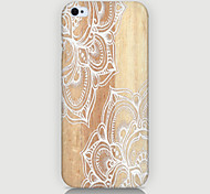 White Flowers Pandas Pattern Phone Case Back Cover Case for iPhone5/5