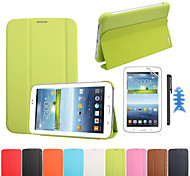 zakelijke boekomslag slimme geval voor Samsung Galaxy Tab 3 7.0 T210 T211 P3200 + screen protector + stylus pen + visgraat