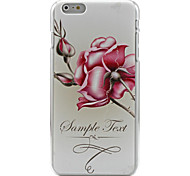 Chinese rose Pattern relief painting Plastic Hard Back Cover Case for iPhone 6
