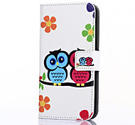 For Huawei Case / P8 Wallet / Card Holder / with Stand Case Full Body Case Owl Hard PU Leather Huawei Huawei P8 / Huawei Honor 4C / Other
