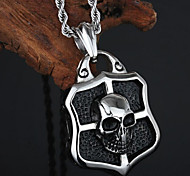 Toonykelly® Stainless Steel Fashion Sexy Skull Skeleton Lock Pendant Necklaces(1pc)