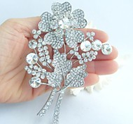 Wedding Accessories Wedding Deco Silver-tone Clear Rhinestone Crystal Bridal Brooch Wedding Bouquet Bridal Jewelry