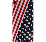 The American Flag Design TPU Soft Case for Sony Xperia Z3