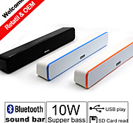 G-807 Bluetooth Power Sound Bar Speakers 2.0Channel Portable Stereo Bluetooth Speaks Wireless for Iphone/Samsung/PC/MP3