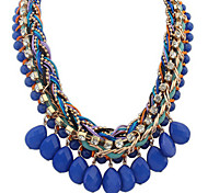 Exaggerated Candy Color Resin Bib Statement Necklaces