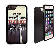 Leben das wahre Leben Muster 2 in 1-Hybrid Rüstung Ganzkörper-Dual-Layer-Schock-Schutz schlanke Fall für iPhone 6 Plus