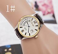orologi da uomo di quarzo per il tempo libero di alta qualità in pelle di moda orologi impermeabili