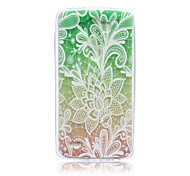 Gradual Change Lace Flowers Pattern TPU Soft Back Cover Case for LG G3