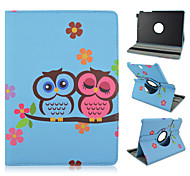 For Samsung Galaxy Case with Stand / Flip / 360° Rotation / Pattern Case Full Body Case Owl PU Leather Samsung Tab A 9.7