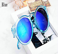 Women Mercury Retro Reflective Color Circular Frame Sunglasses(More Colors)