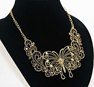 NEW 2015 Europe and Bohemian Hand Made Tassel Water Droplets To Hollow Out The Alloy Necklace Gemstone Necklace