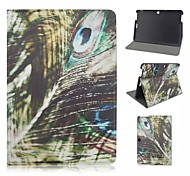 Peacock feather Patterns PU Leather Full Body Case with Card Slot for Asus Memo Pad 10 ME103K