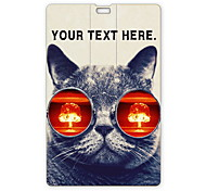 Personalized USB Flash Drive Cat with Glasses Design 64GB Card USB Flash Drive