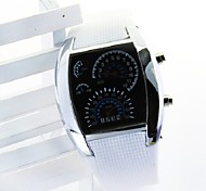 mode led instrumentenpaneel plastic horloge (wit) (1 st)