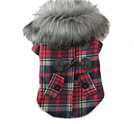 Dog Coats - S / M / L / XL - Winter - Red / Pink Mixed Material / Cotton