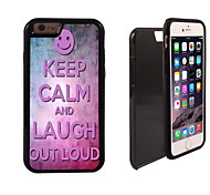 Keep Calm and Laugh Out Loud Design 2 in 1 Hybrid Armor Dual Layer Shock-Protector Slim Case for iPhone 6