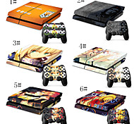 One Piece & Cartoon Combo Flexible Skin For PS4 Game Console & 2 PS4 Gaming Controller Skins