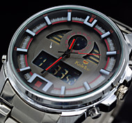 Men's Brand Watches Fashion Full Steel Waterproof Sports Watch Digital Quartz Wristwatches (Assorted Colors)