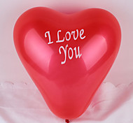 (100 PCS)12 Inches I LOVE YOU Heart Shape Balloon (Random Color)