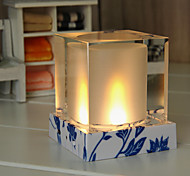 Solar Powered LED Rechargeable Candle Crystal Lamp for Outdoor and Indoor Use